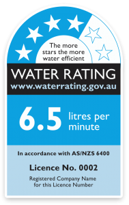 water rating label
