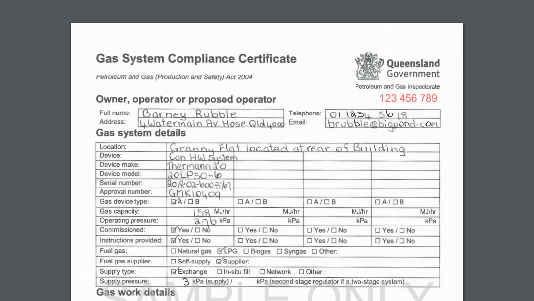 All You Need to Know About Gas Compliance Certificate QLD